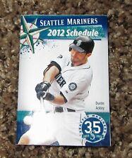 2012 SEATTLE MARINERS foldup season schedule MLB Baseball Dustin Ackley