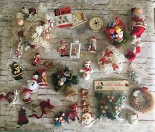 Large Lot Of Vintage Christmas Kitsch Crafting  Tree Wreath Assortment (BinD)