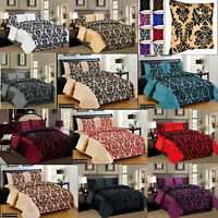 Faux Silk Bedding Quilt Duvet Cover Set Double king Super King, Valance Sheet