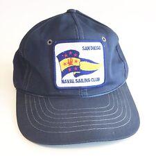 Vintage San Diego Naval Saling Club Blue Snapback Hat 8079b32d280b