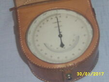 """Vintage Lufft Compens No.57345 Altimeter 4"""" in diameter w/Leather Case"""