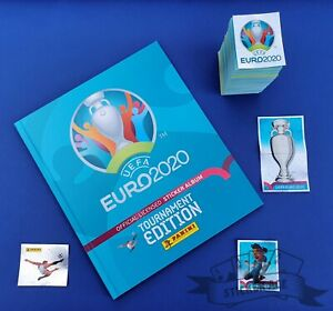 PANINI, Euro 2020 Tourn. Ed., complete loose sticker set + empty HARDCOVER album