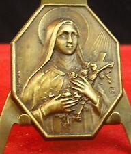 Médaille religieuse religious Ste Thérese de Lisieux.Crucifix Parvilliers Medal