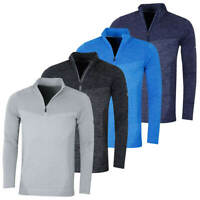 Puma Golf Mens Evoknit Seamless 1/4 Zip Pullover Jumper Sweater 47% OFF RRP