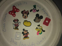 Disney Mickey Mouse Lot Of 10 Crocs Shoe,Bracelet,Lace Adapter Charms,Jibbitz