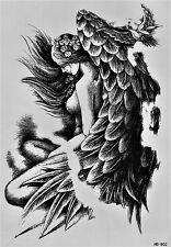 Engel Flügel Nackt Temporary Temporäre Klebe Einmal Tattoo 15 x 21 cm HB802