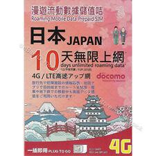 Three Hong Kong NTT DOCOMO 10GB/10Days 4G/3G Japan PAYG Prepaid Roaming Data SIM