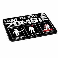 How To Kill A Zombie Theme 5mm Thick Rectangle Mouse Mat / Pad