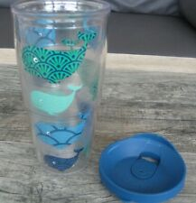 TERVIS 24 oz. Tumbler & Lid ~ Green & Blue ~ Whale Pattern