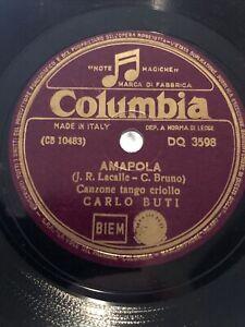78 GIRI CARLO BUTI canta LA PALOMA & AMAPOLA