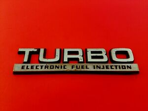 DODGE 600 LANCER SHADOW TURBO ELECTRONIC FUEL INJECTION EMBLEM BADGE LOGO OEM 90