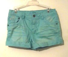 "Girls Light Green Arizona Shorts Size Waist 26"" Inseam 2 3/4"" Adjustable Waist"