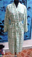 Indian Handmade Long Women Cotton Kimono Bath Robe Nightgown Nightdress Intimate