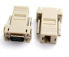 VGA Male to LAN CAT5 CAT6 RJ45 Network Cable Female Adapter