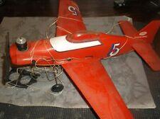 Toy PLASTIC FLYING AIRPLANE (Testors1976)Hand Held string +self wind Mechanism