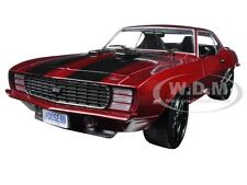 1969 CHEVROLET CAMARO RS CHIP FOOSE DESIGN RED 1/24 DIECAST MODEL M2 40300-52B