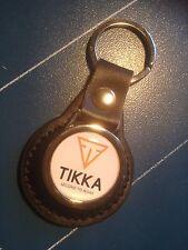 TIKKA SPORTING GUNS:  LEATHER KEY RING  &  FREE TIKKA GUNS STICKER