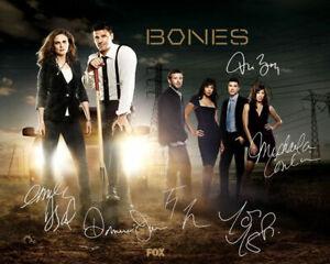 Bones Emily Deschanel David Boreanaz TV Cast Signed Photo Autograph Reprint