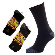 12 Pairs Mens Ruff and Tuff Socks Work Wear Reinforced Heel and Toe Cushion Sole