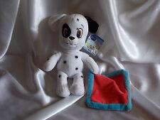 Doudou chien Dalmatian et sa couverture rouge et bleue, Disney, Nicotoy