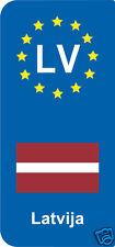 lot 2 Stickers style immatriculation (Vinyl FLAG) Europe Latvija LV