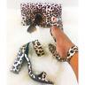 Liliana MAREUM-1 Leopard Wide Ankle Cuff Buckle Strap Open Toe Chunky Block Heel