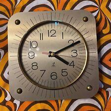 pendule horloge murale JAZ  TINIC 1978 licence ATO  années 70 dorée