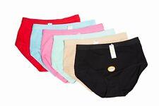 Lot of 6 Women Briefs Full Cover Cotton Underwear Mixed Color S M L XL 2XL 10920