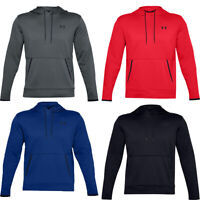 Under Armour UA Mens Hoodies Tracksuit Hoody Solid Sports Running Tops Pockets