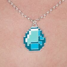 Minecraft Diamond Pendant Necklace Officially Licensed Authentic Video Game New
