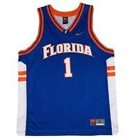 Vintage Nike Team Basketball Jersey University Of Florida Gators Mens Large