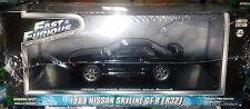 Fast & Furious 1989 Nissan Skyline GT-R R32 Diecast 1:43 Greenlight 5 inch Black