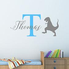 Personalised Dinosaur T-Rex Wall Sticker Decal Children Boys Nursery Bedroom