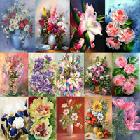 5D DIY Full Round Diamond Painting Flower Cross Stitch Art Craft Wall Decor R1BO