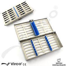 Sterilization cassette rack plateau détiennent 7 chirurgie dentaire instruments autoclave ce