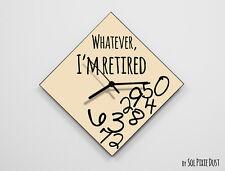 Whatever I'm Retired / Diamond Beige - Wall Clock
