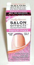 Sally Hansen Salon Effects Real Nail Polish Strips PINK MACAROON 001 New