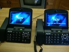 """TWO ACN IRIS 3000  7 """" SCREEN VIDEOPHONE TELEPHONE LANDLINE ETHERNET CONFERENCE"""