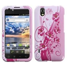For LG Marquee HARD Protector Case Snap on Phone Cover Blooming Lily