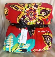 Vera Bradley COZY Throw Blanket RUMBA RARE NWT RED Tropical PINK Floral New GIFT