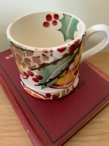 Emma Bridgewater Wreath Baby Mug Used 1st Christmas Mug