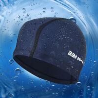 Waterproof Fabric Protect Ears Long Hair Sports Swim Pools HatShark Swimming Cap