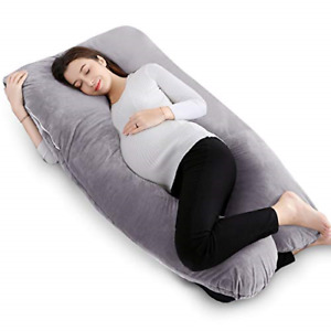 QUEEN ROSE Pregnancy Pillow -Maternity Body Pillow U Shaped with Velvet to C for