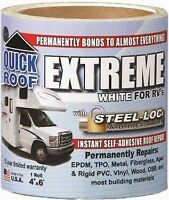 """CoFair Products UBE406 Quick Roof Extreme 4"""" x 6' RV White Roof Tape"""