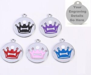 Customized Dog Tag Laser Engraving Pet Identification Card Anti-loss Tag Crown