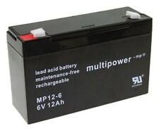 Batterie 6 V 12ah compatible 3-fm-10 20hr 3 FM 10 3fm10 AGM Plomb 9ah 9,5ah 10ah MP