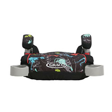 TurboBooster Backless Booster Car Seat, Dinorama