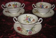 1 - Lot of 3 - Wedgwood Posy Sprays Soup Cups (2017-007)