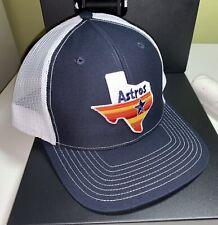 Houston Astros MLB Baseball Hat Snapback Adjustable Cap Texas Rainbow Logo
