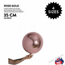 "ROSE GOLD BALLOON BALL ROUND ORBZ 14""/35CM BIRTHDAY WEDDING BABY SHOWER PARTY"